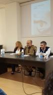 Da sinistra, Elisabetta Villaggio, Fulvio Mazza e... io